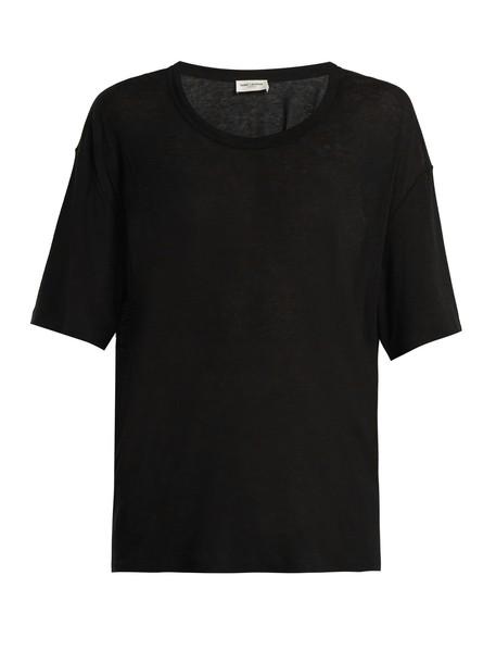 Saint Laurent t-shirt shirt t-shirt cotton black top