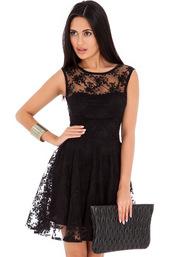 dress,tulle dress,red,blue,black,skater,embroidered