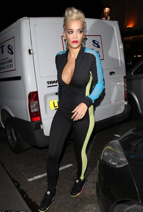 jumpsuit rita ora shoes sneakers adidas