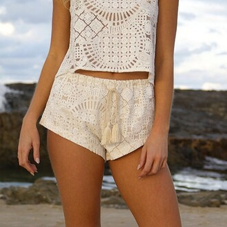 divergence clothing lace shorts beach coachella