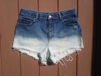 shorts bleached shorts bleach shorts hipster high waisted high waisted shorts denim shorts ripped shorts ripped lace blue and white blue white ombre ombre shorts vintage denim queendenim sexy hot cute summer shorts summer flowered shorts ombre bleach dye bleached short high waisted denim shorts