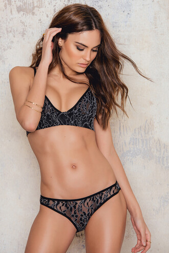 lace black underwear