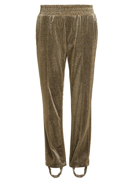 GOLDEN GOOSE DELUXE BRAND pants track pants gold
