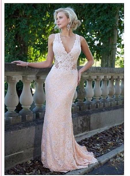 dress nude dress nude prom dress lace dress prom dress