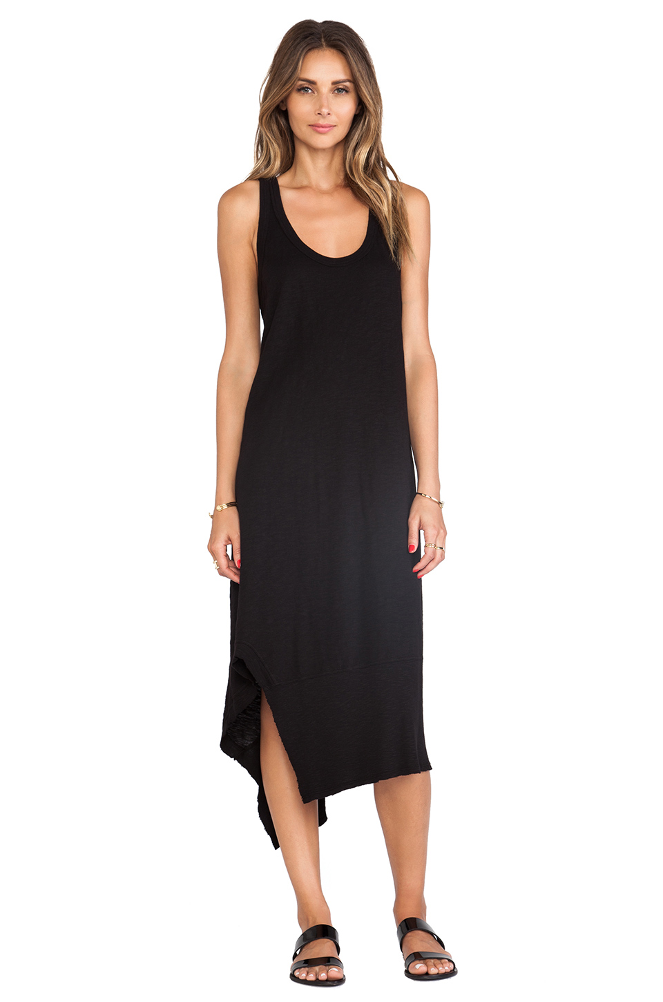 Wilt Slub Mix Tank Dress in Black from REVOLVEclothing.com