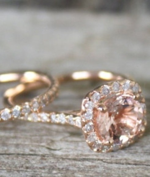 jewels rose gold ring diamond rose gold ring engagement ring promise ring pink stone