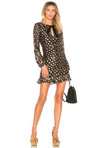 For Love & Lemons dress bell sleeve dress black