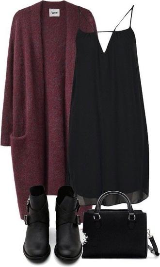 dress bag shoes cardigan