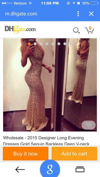 dress gold sequins prom dress long prom dress prom2015