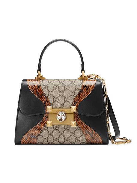 snake women snake skin bag leather black