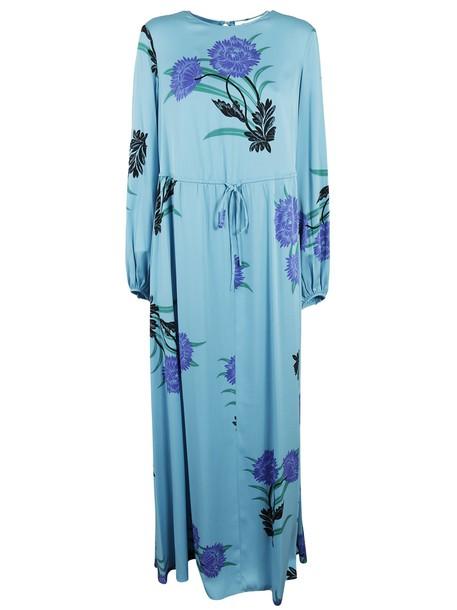 Diane Von Furstenberg dress long dress long floral print blue