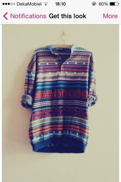 tribal aztec colorful hipster colorful patterns shirt tribal pattern blouse colorful prints hippie chic hippie boho aztecprint button up
