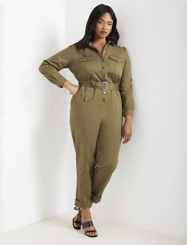 Utility Jumpsuit | Women's Plus Size Dresses | ELOQUII