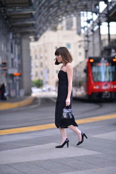 platforms for breakfast blogger little black dress cocktail dress bustier dress jumpsuit shoes jewels bag