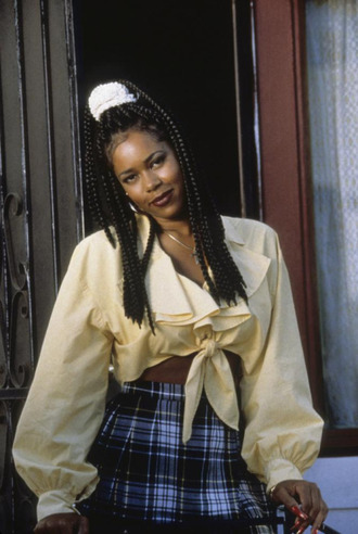 blouse long sleeves dont be a meanace to society dashiki the actress ruffled top crop tops yellow 90s style vintage top long sleeve crop top dashikithecharacter 90s top vintage i need this help ruffle crop top ruffled long sleeve top shirt 90s grunge ruffle