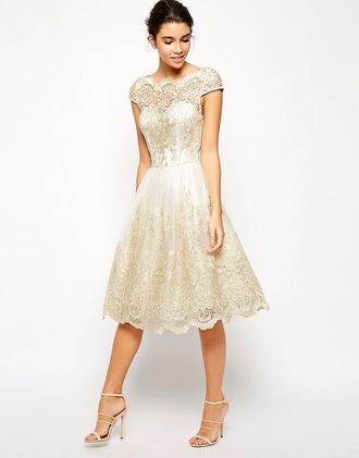 dress chi chi london metallic midi prom dress lace fabric sweetheart neckline pleating prom dress