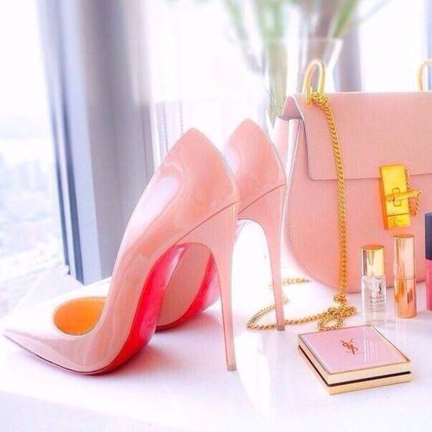 shoes high heel pumps pink heels high heels