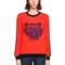 Tiger embroidered crepe sweatshirt