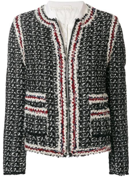 Moncler Gamme Rouge coat women cotton black silk wool