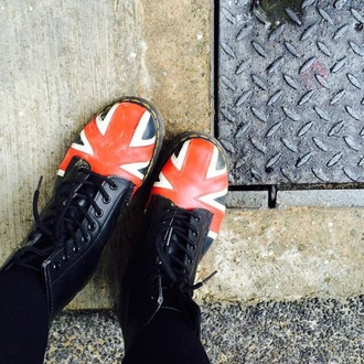 shoes drmartens union jack combat boots boots