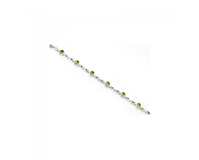 Awesome 925 sterling silver Peridot Bracelet