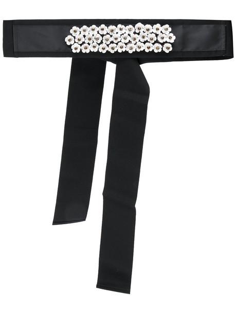belt floral black
