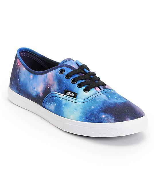 Vans authentic lo pro galaxy print shoe