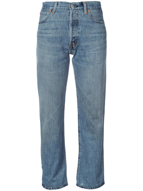 Re/Done jeans cropped jeans cropped women cotton blue