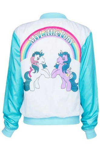 jacket my little pony baseball jacket varsity jacket lettermans rainbow ponies
