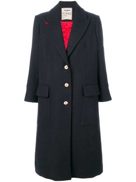 Zadig & Voltaire coat women blue wool