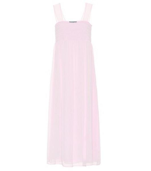 AlexaChung Smocked midi dress in pink