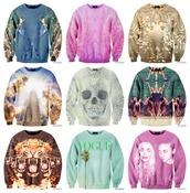 sweater,kanye west,vogue,chic,vintage,skull,pyramid,throne