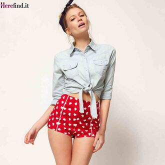 shorts wine red shorts polka shorts high waisted shorts disco high waist shorts lace shorts red shorts summer shorts spring summer 2011 polka dot shorts chiffon shorts