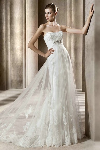 wedding dress wedding dress bridal gown bridal dress wedding gown bridal gown lace maternity empire waist beading