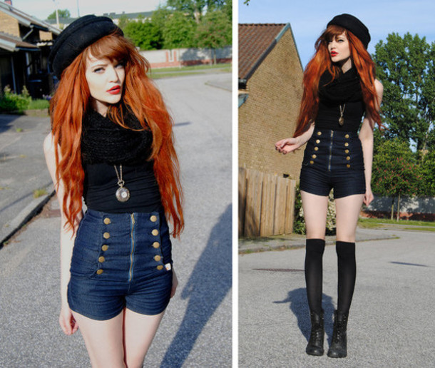Shorts denim shorts jeans jeans with a high waist high waisted shorts high-wasted denim ...