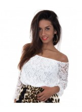 Off-Shoulder Lace Top - New Arrivals