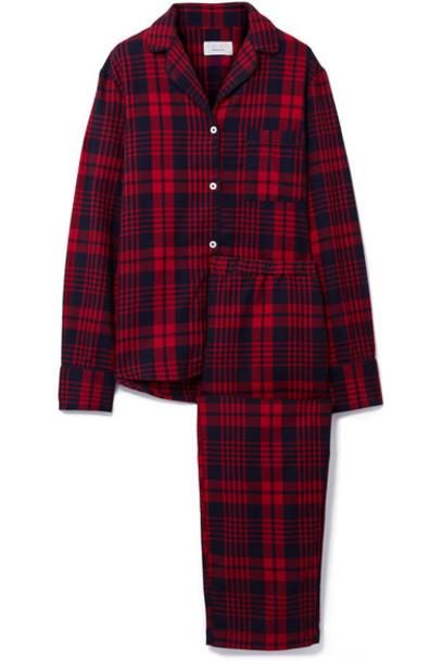 Three J NYC cotton flannel red underwear