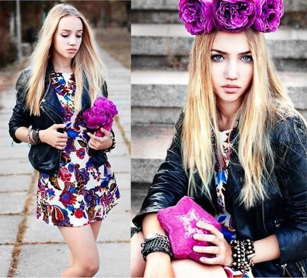 dress aksinya air leather jacket ukraine violet bag bracelets jacket