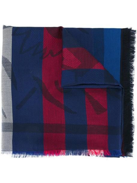 Kenzo women scarf cotton blue