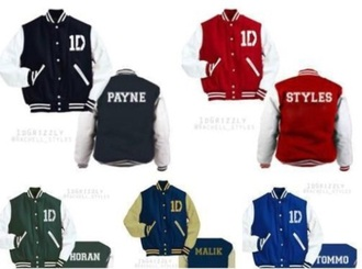 one direction baseball jacket