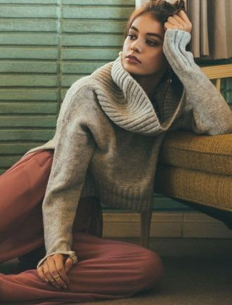sweater girl girly girly wishlist turtleneck turtleneck sweater knit knitwear knitted sweater comfy