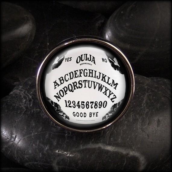 Ouija board occult halloween adjustable ring by kasketkustoms