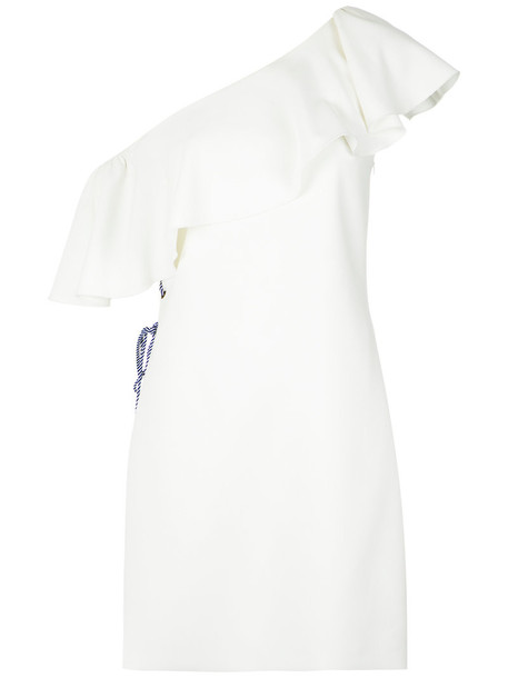 dress one shoulder dress women spandex white