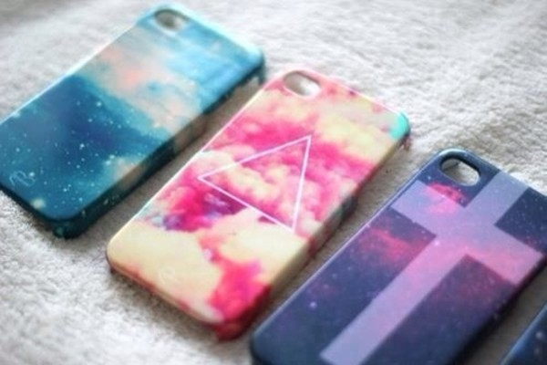 jewels iphone case iphone 4 case hipster galaxy print troangle dream fantasy