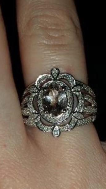 jewels morganite vintage style ring