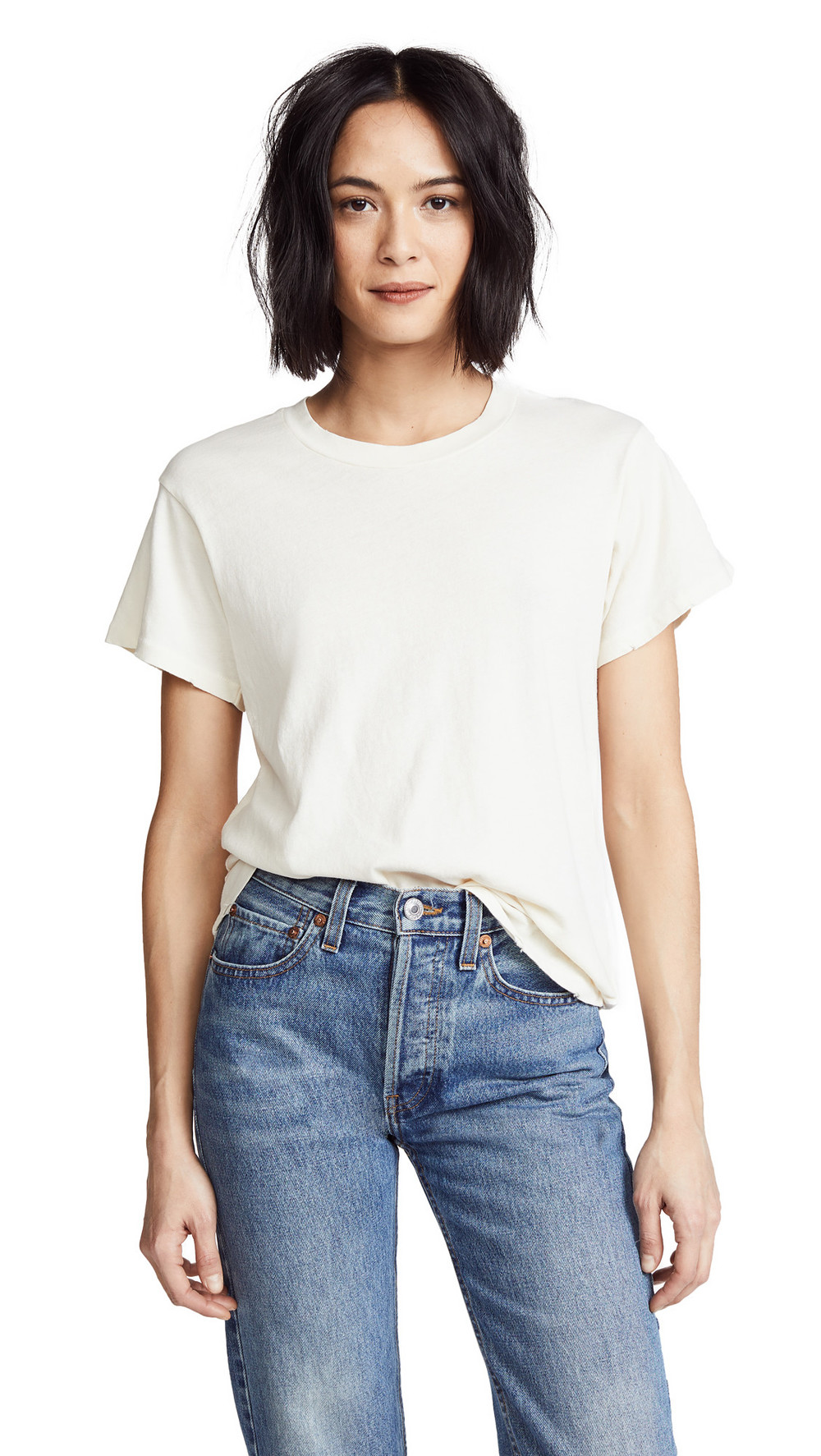 THE GREAT. THE GREAT. The Slim Tee in white