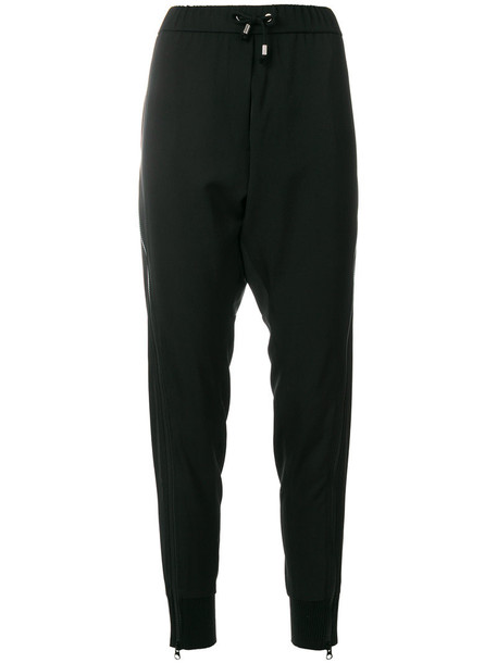 Wunderkind - zipped cuff track pants - women - Wool - 40, Black, Wool