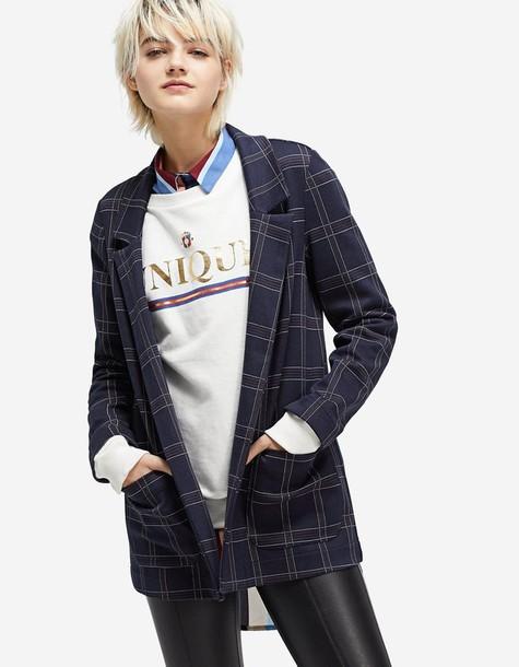 Stradivarius blazer navy blue jacket