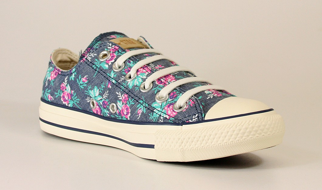 All Star Low Floral Dark Denim - Sportsline Onlineshop