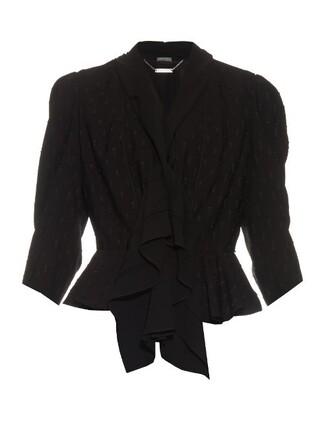 jacket ruffle black